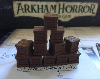 30 Arkham Horror The Card Game Resource Tokens 3D !  30 Resource Tokens!!!  Big Arkham Set!