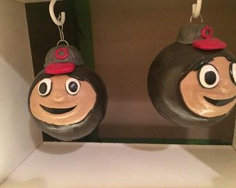 Ohio state buckeyes ornament