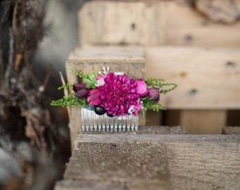 Hair comb Floral comb Custom made Flower hair comb Wedding hair comb Bridal hair fashion accessories
