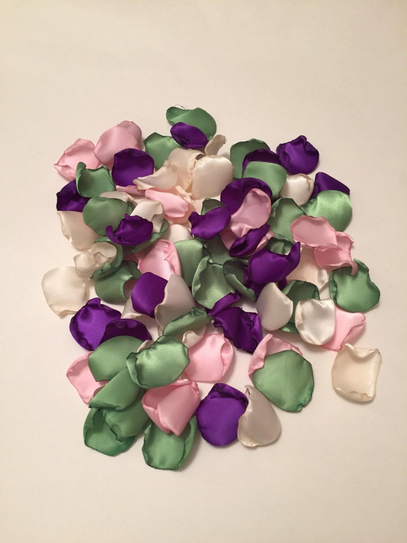 Purple Rose Petals Purple Wedding Decor Flower Girl
