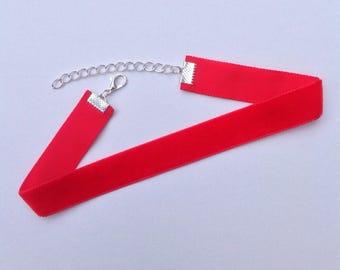 Red Velvet Choker