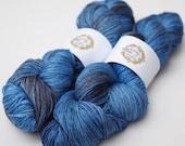 Little Smile - 'Dirty Denim' Fingering weight Merino and Silk Yarn