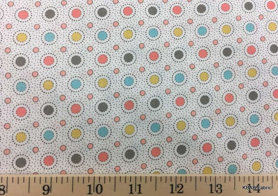 Items Similar To Dots All Over Circles Fabric Multi Color