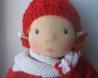 """Waldorf doll 14"""", waldorf fabric doll, steiner doll, cloth doll, gift for girl, organic doll, waldorf toy"""