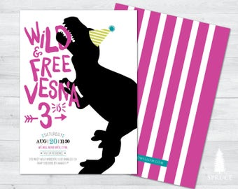 modern dinosaur birthday invitation, modern dinosaur invitation, modern dinosaur birthday, modern dinosaur party birthday invitation