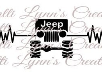 SVG HEARBEAT JEEP