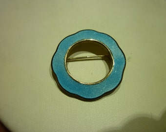 A10 Small Light Blue Enameled Pin.