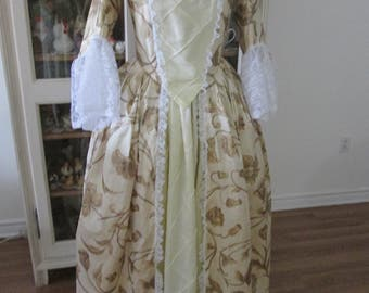 18th Century Women's Dress, Marie-Antoinette Period Women's Clothing (Size Small)