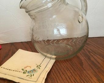 Glass lemonade  water pitcher