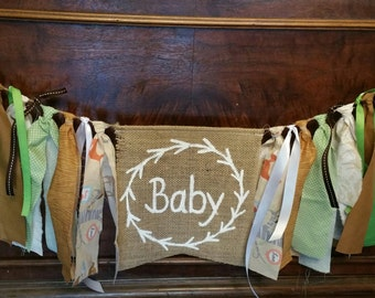 Custom Woodland Baby Shower Banner, Rustic Baby Shower Decoration, Woodland Animals Baby Shower, Woodland Decor, Woodland Nursery Decor