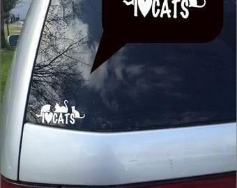 Cat lovers, cat decals, computer decals, i love cat decals,