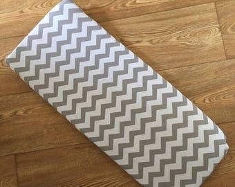 Grey chevron custom carrycot matress sheet cover for Bugaboo Cameleon