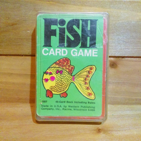 Vintage 1970s fish card game by whitman western publishing for Fish card game