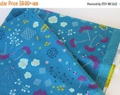 Clearance Sale Mochi Floral Lawn in Teal by Rashida Coleman-Hale for Cotton + Steel - Mochi Collection - Japanese Import