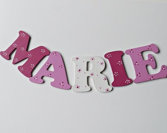 Wooden letters for the nursery wall or door