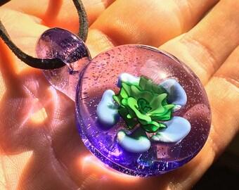 Heady Glass Pendant - Heady Boro Pendy - Boro Glass Pendant - Boro Lampwork Necklace - Heady Lampwork Pendant - Blown Glass Pendy Necklace