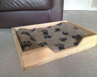 Handmade Rustic Pine Dog Bed