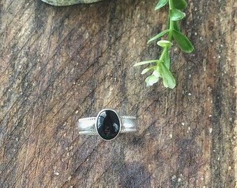 Onyx Simplicity Ring