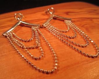 Retro Sterling Silver Earrings