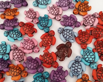 25pcs Tortoise Beads - Assorted Beads - Acrylic Animal Beads - Craft Beads - Craft Supplies - Jewelry Making Supplies - B27099