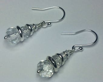 Links of London Inspired Dangle Drop Crystal Earrings - All Colours  Available - Customisable - Free UK Shipping, Buy1Get1Free