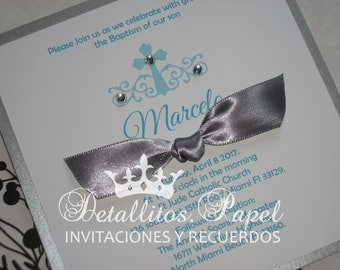 Baptism Invitation Boy, Baptism Invitations, Christening invitations 30