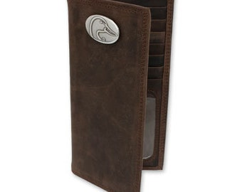 Ducks Unlimited Genuine Crazy Horse Leather Secretary Wallet