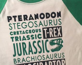 Dinosaur Names - Raglan Tee
