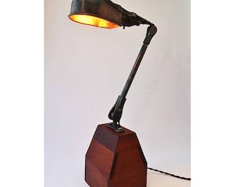 Vintage Articulating Arm Desk Lamp-Industrial Lamp- Industrial Light-Machine Age Lighting-Metal Drafting Lamp-Articulating Lamp