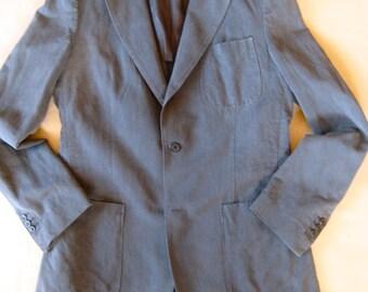 Margiela line 10 # grey casual jacket  # llnen/cotton # size 50L