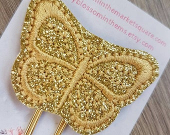 Butterfly Paper Clip in  Gold