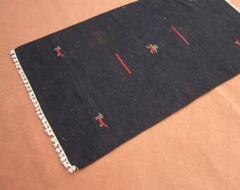 Size:5 ft by 2.9 ft Handmade Kilim Vintage Small Gabbeh Kilim