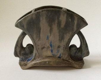 French Art Nouveau Charles Greber Petite Handled Pottery Vase