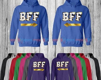 BFF Gold Edition - Best Friend Forever Matching Hoodie- Bff Hoodies
