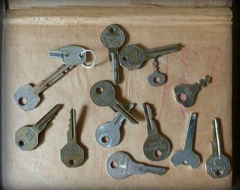Vintage Keys / Car Keys / Instant Collection / Locker Keys