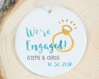 Engagement Ornament - We're Engaged Ornament - Personalized Ornament