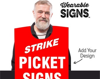 Custom Made Wearable Signs