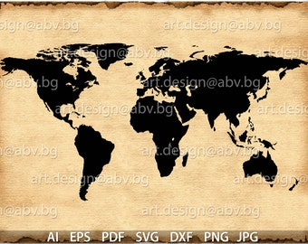 Continent svg etsy vector earth map continents ai eps png pdf svg gumiabroncs Choice Image