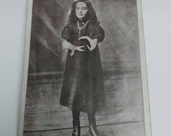 Antique postcard girl with birth defect