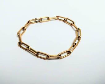 Vintage doublé gold charm bracelet