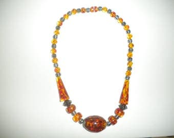 Lovely necklace amber