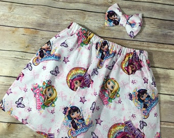 Little charmers skirt and bow set