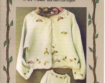Flower Garden Cardigan pattern by Bareroots