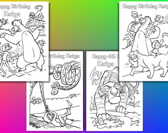 Jungle Book Coloring Pages Birthday Party Favor PDF File