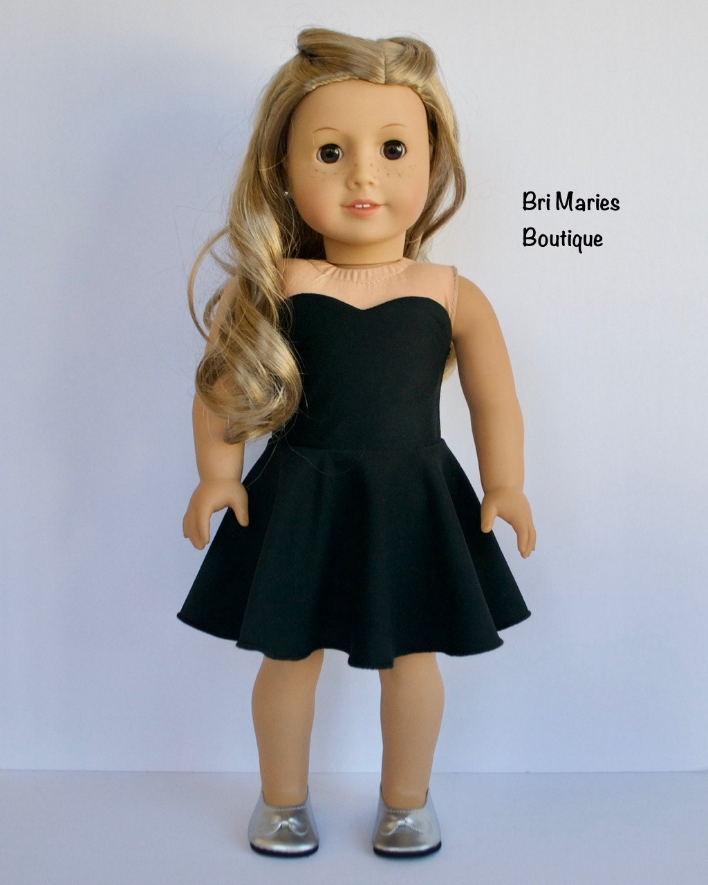 18 Inch Doll Clothes Ag Doll Clothes Strapless Black Dress
