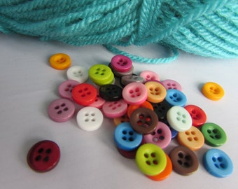 9mm 4 Hole Round Buttons