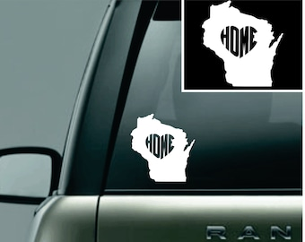Wisconsin Love Your State Car Decal