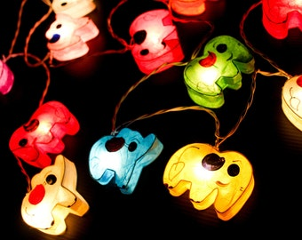 20  Multi-Colour Lovely ELEPHANT Saa Paper String Lights Paper Lights Christmas Lights Bedroom Lights Paito Lights