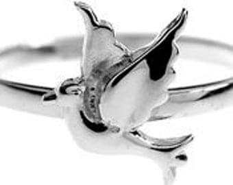 Sterling Silver Bird Ring