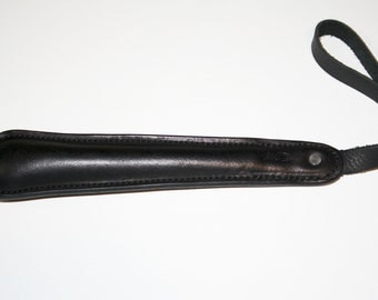 Heavy Duty Brown or Black Leather Sap with Wrist Strap